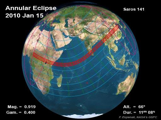 Eclipse Solar Anular, 15 de Enero  de 2010