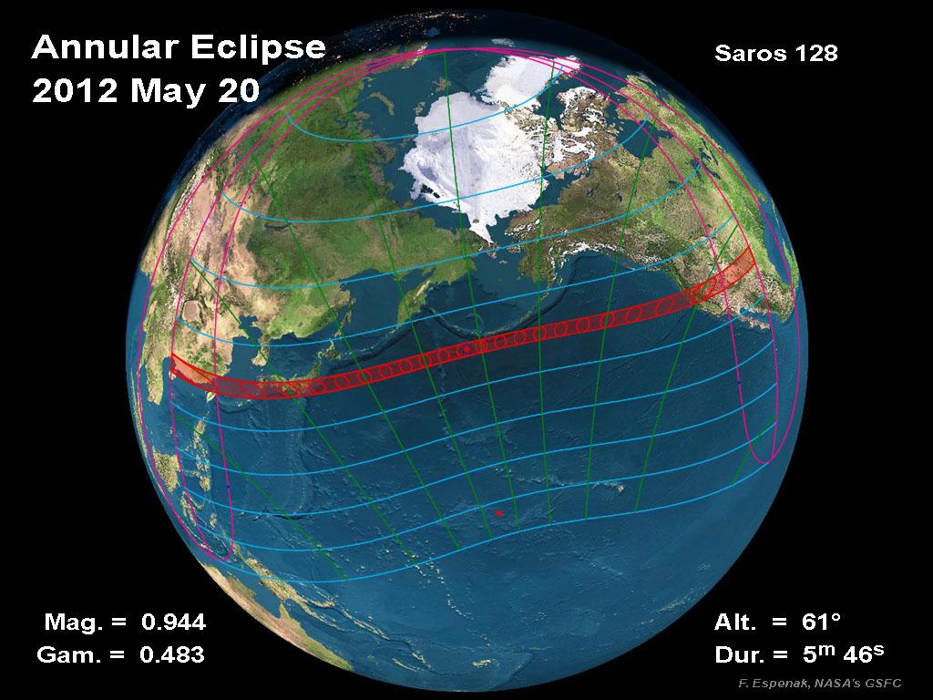 Ephéméride astronomique : semaine du 14 au 20 mai 2012
