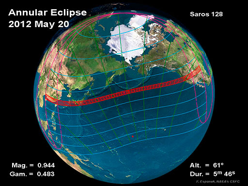 2012 Annular Solar Eclipse Global Map
